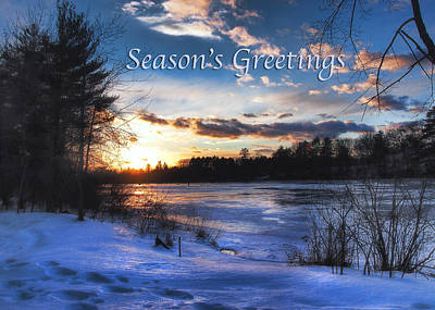 Winter Scene Photograph - Snow Scene Holiday Card 2 by Joann Vitali