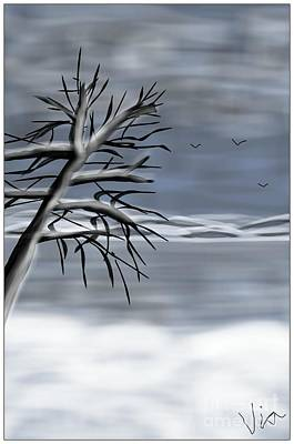 Painting - Snow Scene by Judy Via-Wolff
