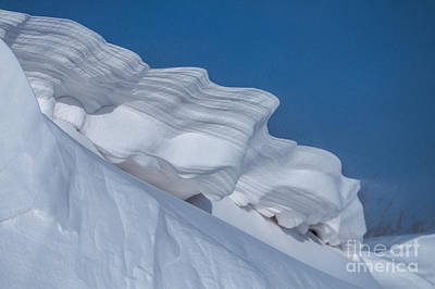 Photograph - Snow Sculpture by Jim McCain