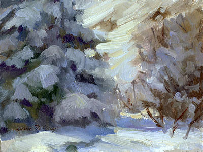 Painting - Snow Shadows 2 by Diane McClary