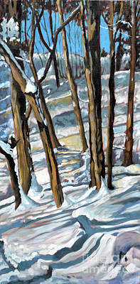Painting - Snow Shadows by Joan McGivney
