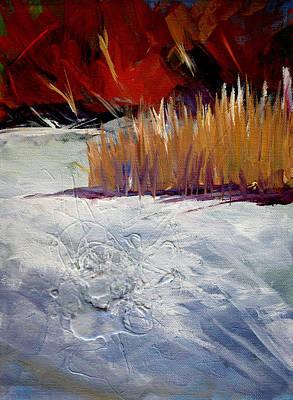 Outdoor Scene Painting - Snow Shadows by Nancy Merkle