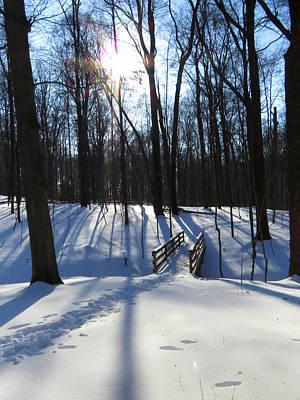 Photograph - Snow Shadows by Ron Grafe