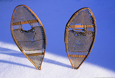Snow Shoes Were Used By Many Tribes Art Print by Angel Wynn