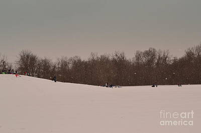 Indiana Photograph - Snow Sledding Hill by Amy Lucid