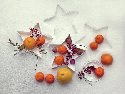 Grapefruit Photograph - Snow Still Life by Dimitar Lazarov -