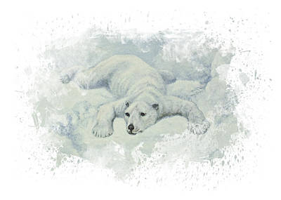 Bear Digital Art - Snow Storm by Aged Pixel