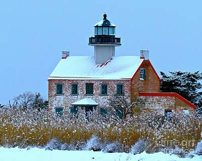 Photograph - Snow Storm At East Point Light by Nancy Patterson