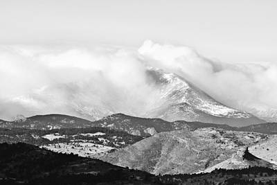 Photograph - Snow Storm On The Twin Peaks Longs And Meeker by James BO Insogna