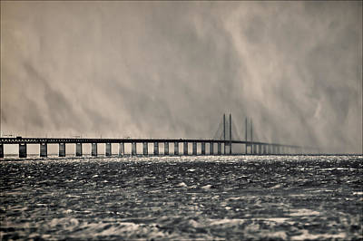 Malmo Photograph - Snow Storm Out At Sea by EXparte SE