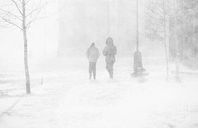 Snowstorm Photograph - Snow Storm by Rod McLean