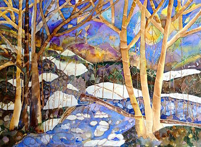 Painting - Snow Stream by Autumn Leaves