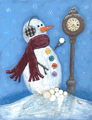 Mixed Media - Snow Time by Carol Neal