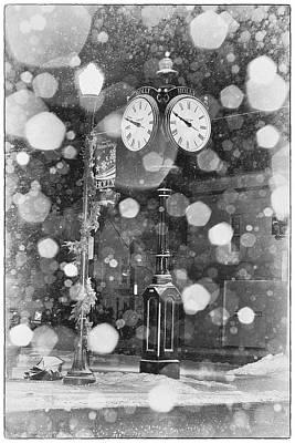 Snow Time Holly Michigan Art Print
