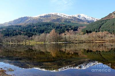 Photograph - Snow Top Reflections by David Grant