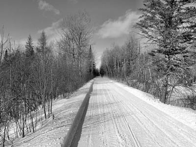 Photograph - Snow Trail 1 by Gene Cyr