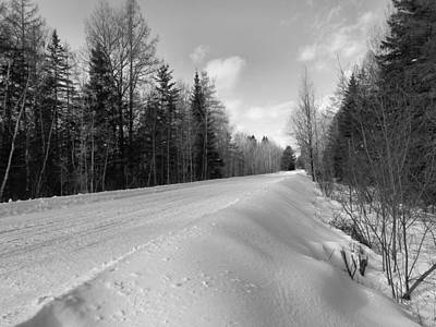 Photograph - Snow Trail 2 by Gene Cyr