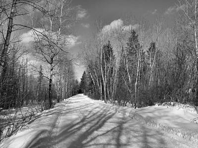 Photograph - Snow Trail 3 by Gene Cyr