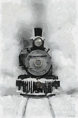 Snow Train Art Print