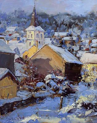 Snow Village Art Print by James Swanson
