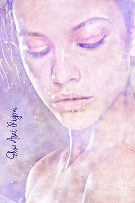 Aset Digital Art - Snow Violet by Elsa Aset Rigoni