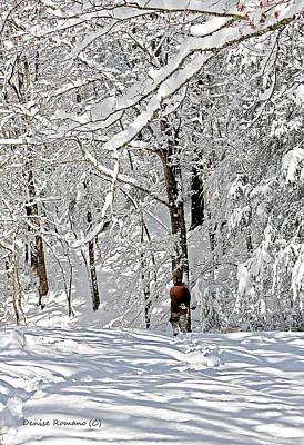 Snow Walking Art Print