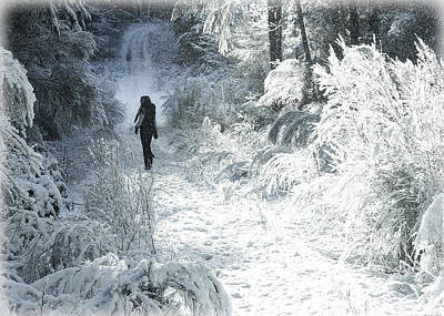 Photograph - Snow Walking by Ronda Broatch