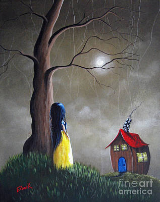 Fairy Doors Painting - Snow White Original Artwork - Acrylic Painting by Shawna Erback