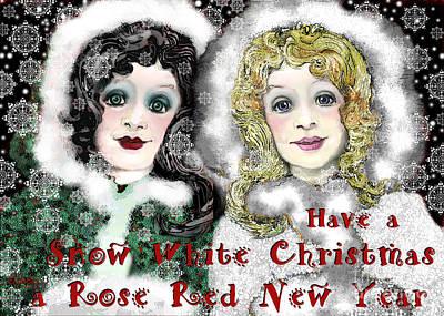 Digital Art - Snow White Christmas by Carol Jacobs