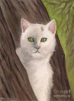 Painting - Snow White The Cat by Kostas Koutsoukanidis