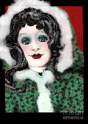 Digital Art - Snow White Winter by Carol Jacobs