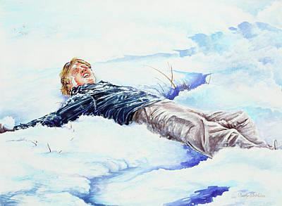 Snowball War Art Print