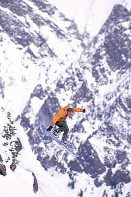 Snowboarding, Snowbird Art Print