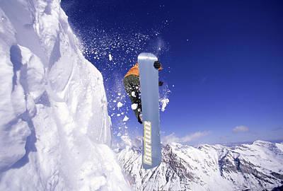 Snowboarding, Snowbird, Ut Usa Art Print