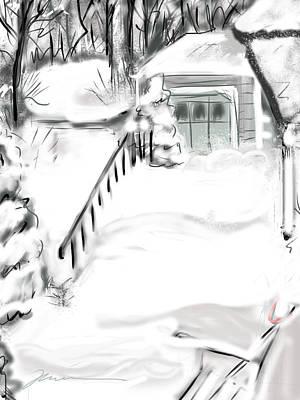 Snow Drifts Digital Art - Snowbound by Jean Pacheco Ravinski