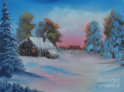 Painting - Snowbound.....but Gorgeous by Bob Williams