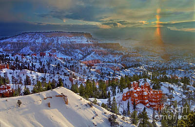 Photograph - Snowbow During Winter Sunrise Bryce Canyon National Park Utah by Dave Welling