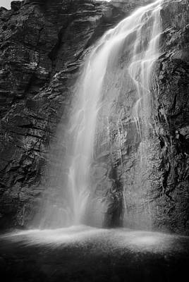 White And Black Waterfalls Photograph - Snowbreak by Guido Montanes Castillo