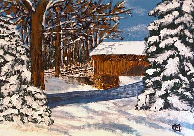 Painting - Snowbridge by Cynthia Morgan