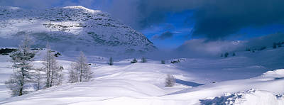 Snowcapped Mountain In A Polar Art Print by Panoramic Images