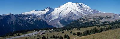 Snowcapped Mountain, Mt Rainier, Mt Art Print