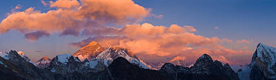 Nepal Scenes Photograph - Snowcapped Mountain Peaks, Mt Everest by Panoramic Images
