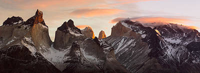 Patagonia Photograph - Snowcapped Mountain Range, Paine by Panoramic Images