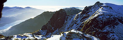 Snowcapped Mountain Range, The Cobbler Art Print