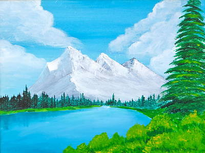 Painting - Snowcapped Mountains by Artistic Indian Nurse
