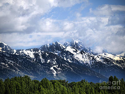 Photograph - Snowcapped Mountains by Brenda Kean