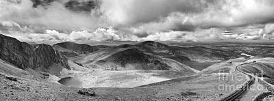 Railroad Park Photograph - Snowdonia Panorama In Black And White by Jane Rix