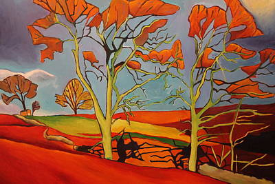 Painting - Snowdonian Windswept Trees by Emma Cownie