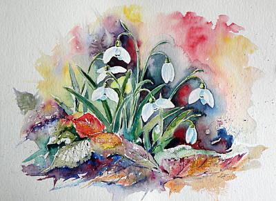 Snowdrops Print by Kovacs Anna Brigitta