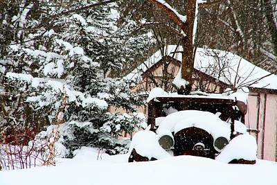 Old Cars Photograph - Snowed In by Heather Allen